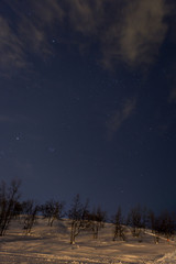 Nachthimmel über Nordschweden