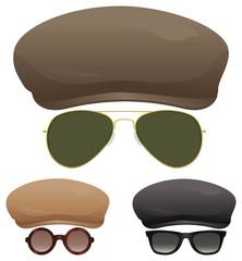 Flat cap sunglasses