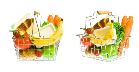Shopping Basket With Mixed Groceries