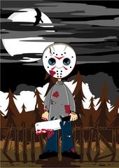 Cartoon Halloween Serial Killer