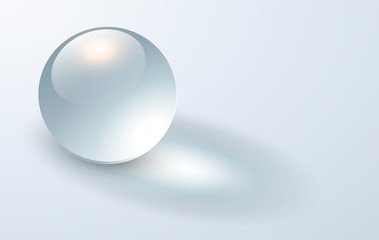 Background with transparent sphere