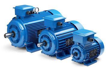 Three industrial electric motors