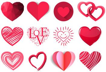 Herzen Vektor Set