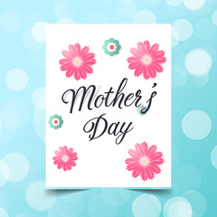 Mother's day greeting card typography flyer template and lettering. Poster, card, label, banner design,background, Vector illustration