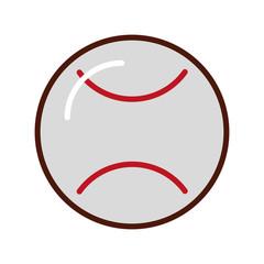 cute white brightly baseball cartoon vector graphic design
