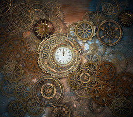 Rusty steampunk background