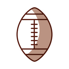shadow american football ball cartoon vector graphic design
