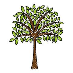 scribble cute tree cartoon vector graphic design