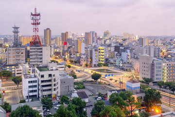 Toyohashi Cityscape at Night - Aichi, Japan