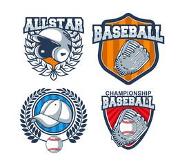 Vector Set Of Baseball Badge Logo