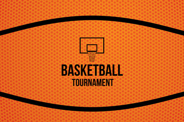 Sport background with basketball tournament. Vector illustration