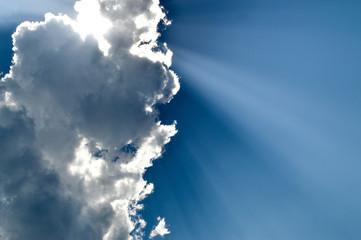 Keuken foto achterwand Hemel Sun, cloud and sky