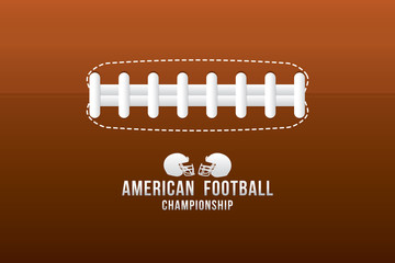 Sport background with American football championship. Vector illustration