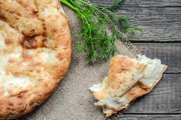 Pita flatbread,. traditional asian bread