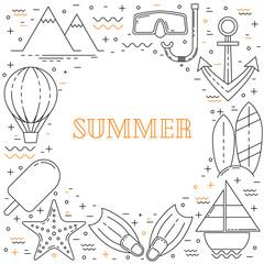 Summer vacation line design