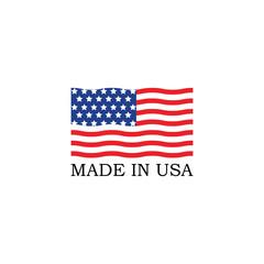 Template logo for USA flag. Made in USA logo concept