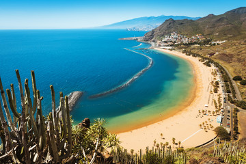 Amazing view of beach las Teresitas Tenerife