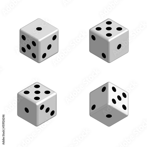 dice set in isometric 3d vector stock image and royalty free
