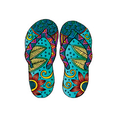 Flip flops. Zentangle style.