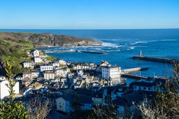 Idyllic Luarca, fishing town in Asturias, Spain