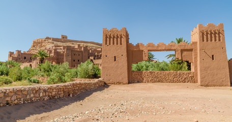 Ancient historical clay town Aid Ben Haddou where Gladiator and other movies were filmed, Morocco, North Africa