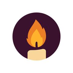 Candle vector logo