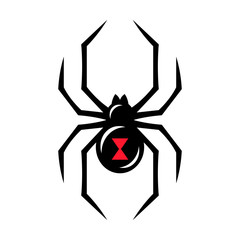 Black widow spider icon
