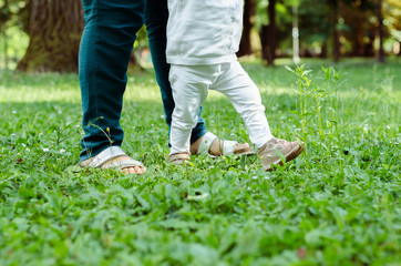 baby walking first step