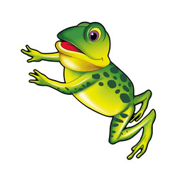 Jumping frog - jpg illustration
