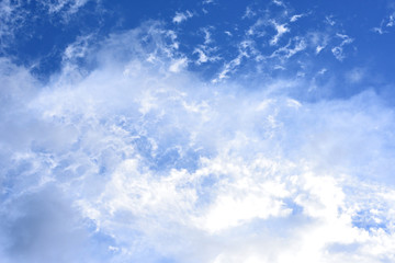 Beautiful cloudscape for nature background, Blue sky