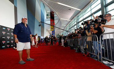 "Cast member Larry the Cable Guy poses at the premiere of ""Cars 3"" at the convention center in Anaheim"