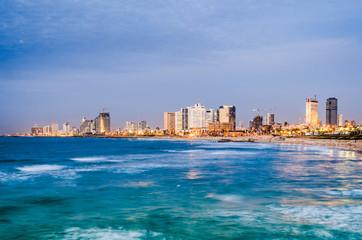 Tel Aviv, Israel coastal skyline.