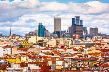 Foto op Canvas Barcelona Madrid, Spain Cityscape
