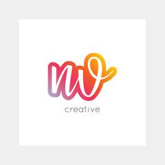 NV logo, vector. Useful as branding, app icon, alphabet combination, clip-art.