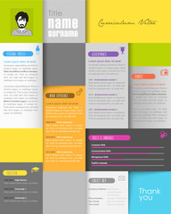Creative resume template with place for your photo.