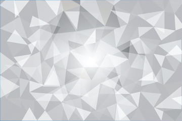 white gray poly texture or background vector illustration