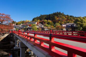 飛騨高山 中橋 紅葉