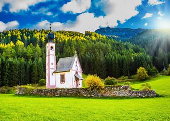The summer sunset in Tirol