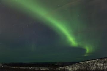 Polarlicht über Kiruna (Schweden)