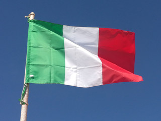 italian flag in the wind, Italy