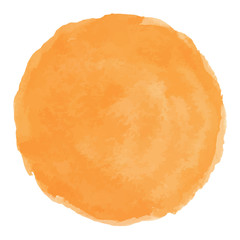Bright Peach watercolor painted vector stain