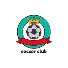 Template logo for soccer club