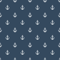 Summer seamless pattern with Anchors. Nautical seamless pattern for background, invitetion, backdrop, print, textile, wrapping, wallpapers, web background, cover, banner, flyer.