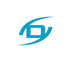 Letter D logo. Creative concept icon