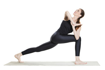 Yoga Revolved Lunge Pose - Parivrtta Anjaneyasana