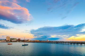 St. Kilda Beach jetty, Victoria, Australia