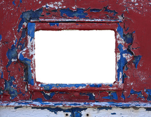 Grunge weathered border frame blanked