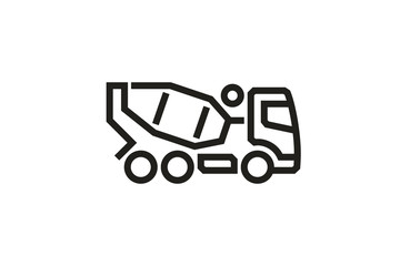 Vehicle Icons: Concrete Mixer Truck.