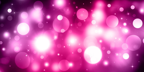 Pink,Purple sparkle defocused rays lights bokeh abstract background. Web Banner, Header Layout Template.