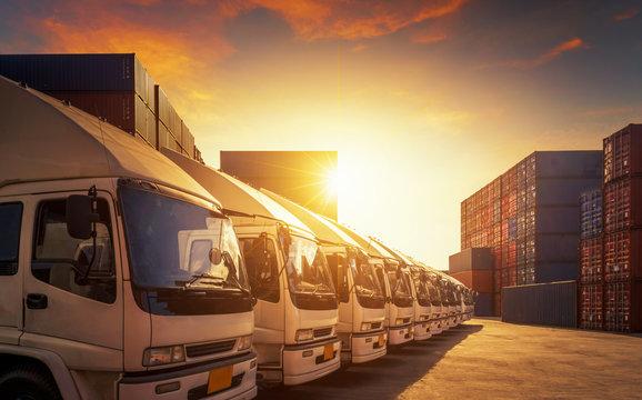 Truck - Freight transportation in port.